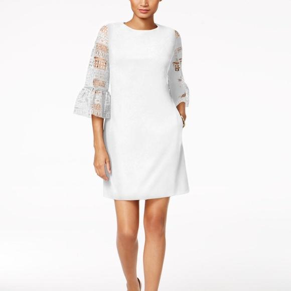 3619dcb4 Donna Ricco Dresses   Womens Bell Lacesleeve Sheath Dress   Poshmark
